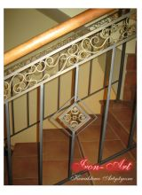 Dekor kuty jako element balustrady